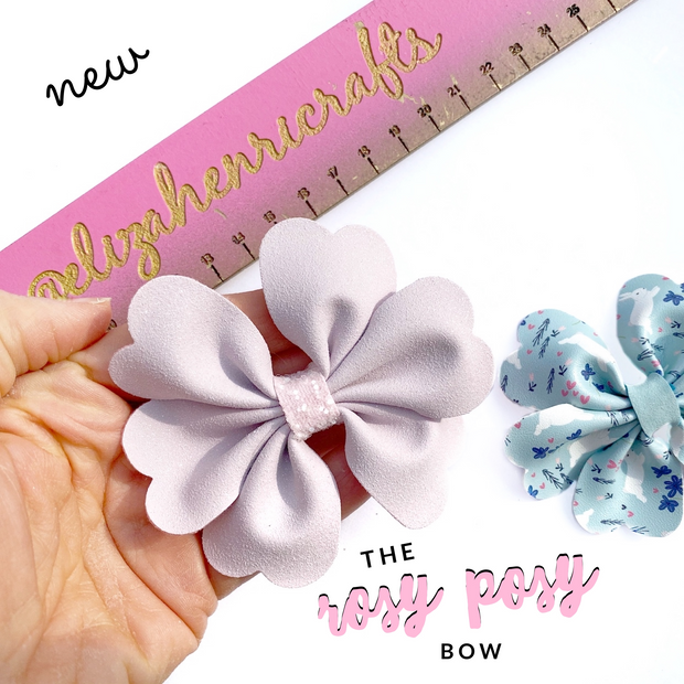 The Rosy Posy Pinch Bow Template