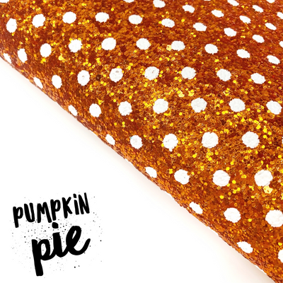 Pumpkin Pie Chunky Glitter Fabric