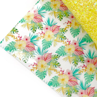 Tropical Island Floral Transparent TPU Fabric Sheets