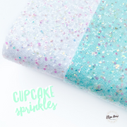 Cupcake Sprinkles Chunky Glitter Fabric Sheets