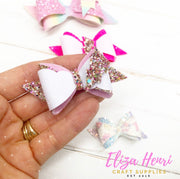 "Elektra Hair Bow Template 5'', 4"", 3"", 2.5"" & 2"""