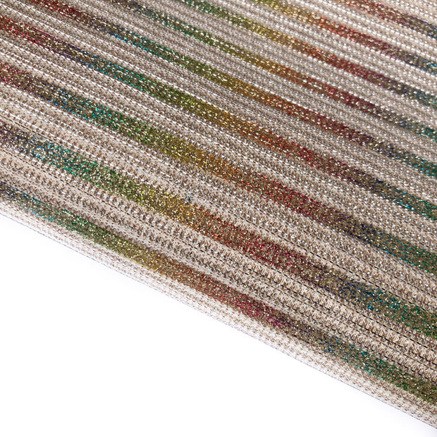 Perfect Rainbow Stripes Fine Glitter Fabric