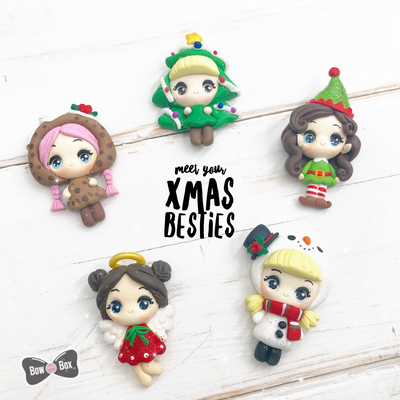 EXCLUSIVE Xmas Besties Clay Girl Charms