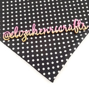 Black Polka Dot Print Bullet Fabric