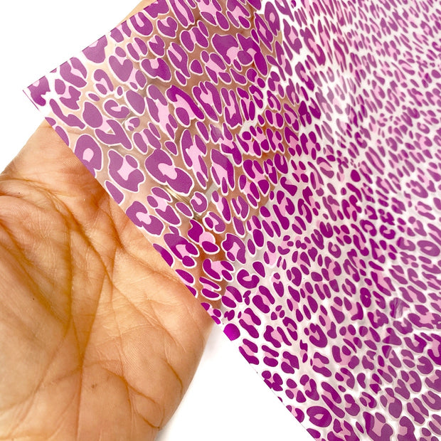 Bright Pink Leopard Transparent Fabric Sheets