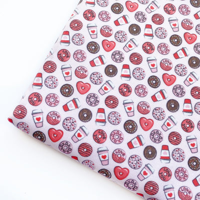 Loved Up Donuts Pink/Red Artisan Fabric Felt