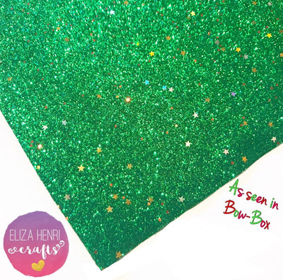 Evergreen stars Fine Glitter Fabric