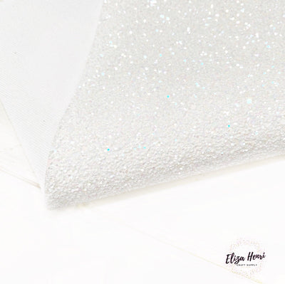 White Rainbows Lux Premium Chunky Glitter Fabric