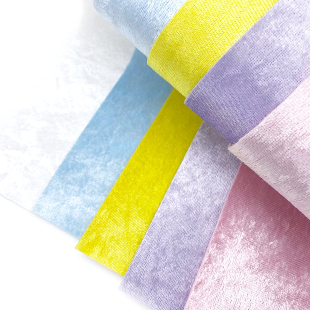 New Crushed Pastel Velvets Fabric Felts