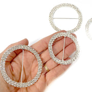 Circle shaped Diamonte Buckles