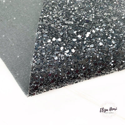Black Widow Lux Premium Chunky Glitter Fabric