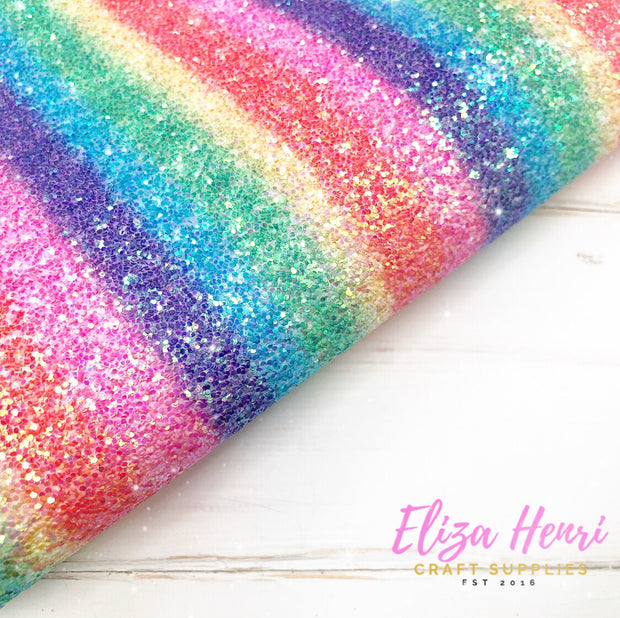Always be a Rainbow Glitter Fabric