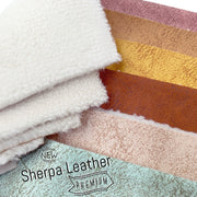 Premium Sherpa Leather Fabric Sheets