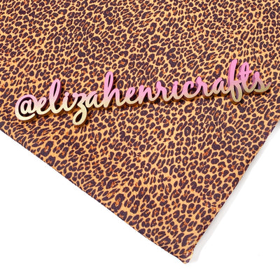 EHC Brown Leopard Print Bullet Fabric