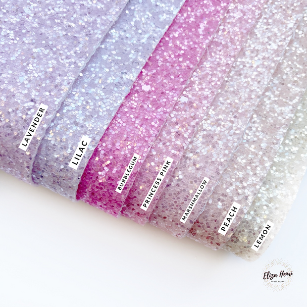 Shades of Spring Frosted Chunky Glitter Fabric Sheets