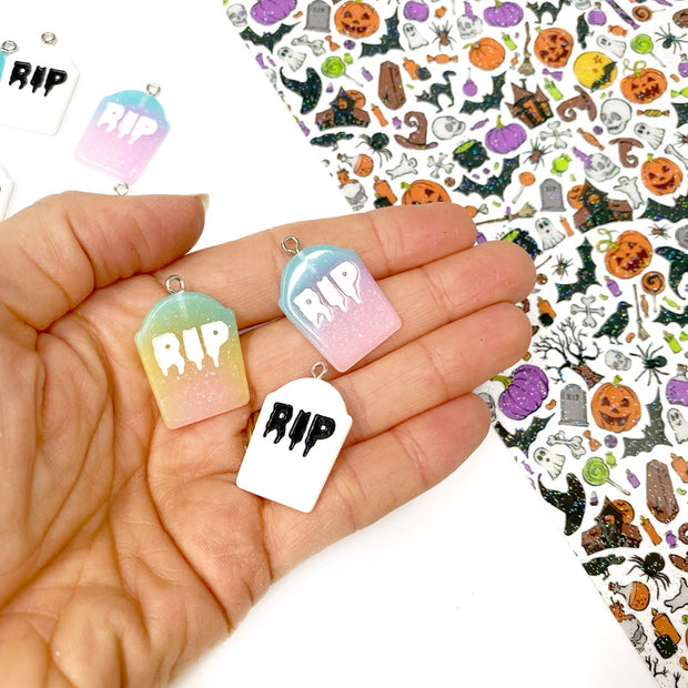 Coloured RIP Charms