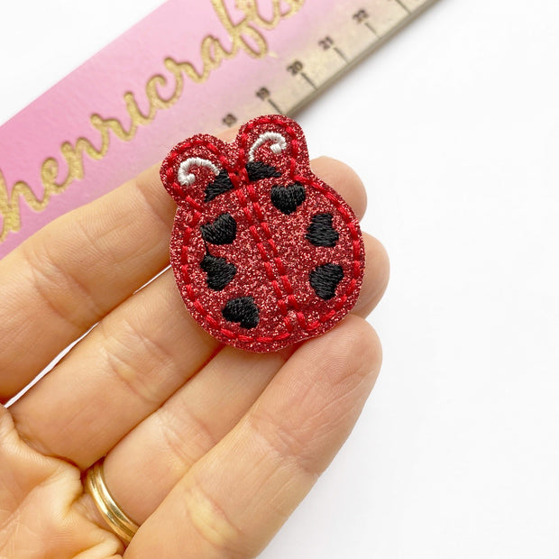 Lady Bug Glitter Felties