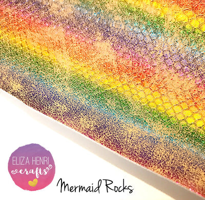 Mermaid Rocks Leather Fabric