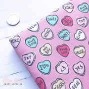 Conversation Candy Hearts Artisan Fabric Felt