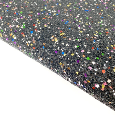 Black Magic Lux Premium Chunky Glitter Fabric