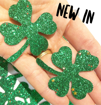 shamrock glitter shapes