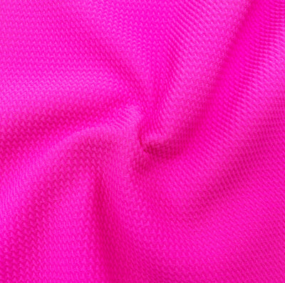 Neon Pink Colour Block Bullet Fabric