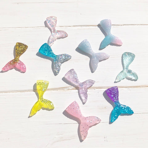 Medium Mermaid Tail Resin Charms