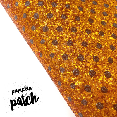 Pumpkin Patch Chunky Glitter Fabric