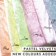 Pastel Velvets Crushed Fabric Felt Collection