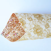 EHC Double Sided Glitter Lace Fabric