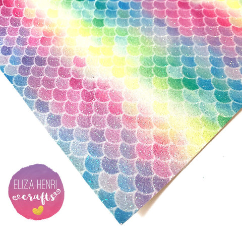 Just Keep Swimming Scales Fine Glitter Fabric