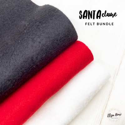 Santa Clause Merino Wool Blend Felt Bundle