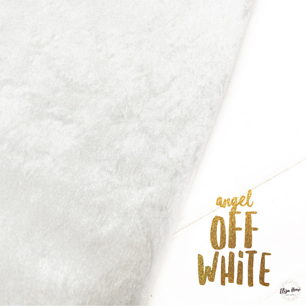 Angel Off White Crushed Velvet Fabric Felt Sheets