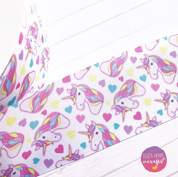 Unicorn Party Grosgrain Ribbon 2'' or 3''