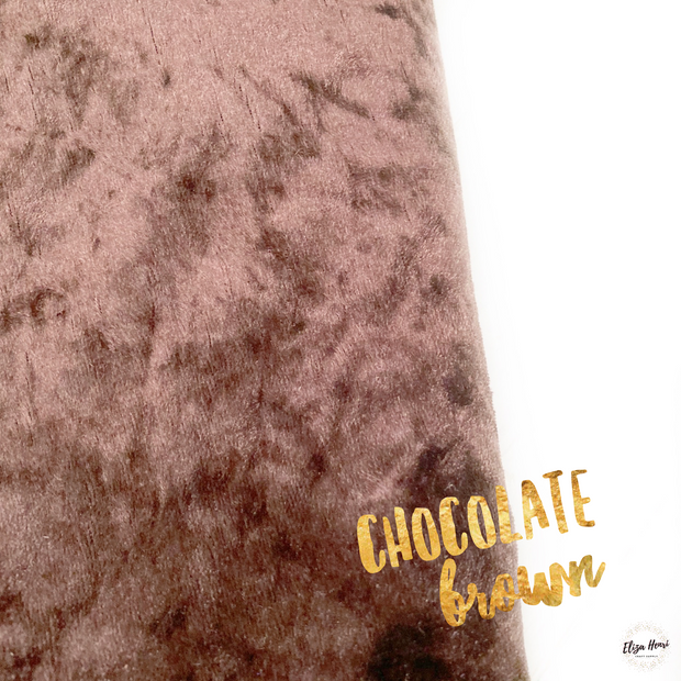 Chocolate Brown Crushed Velvet Fabric Felt Sheets