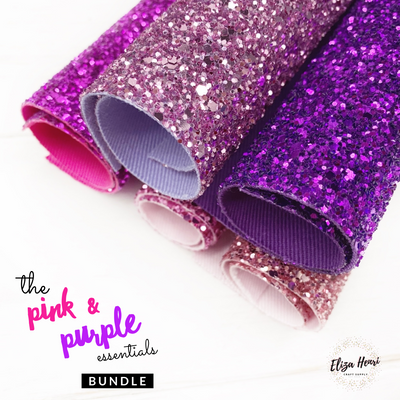 Pink & Purple Essentials Premium Core Glitter collection- 5 Colours