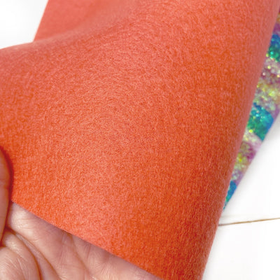 Coral Blush 100% Wool Blend Felt Sheets
