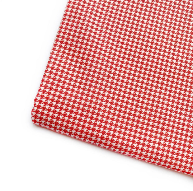 Red White Houndstooth Artisan Fabric Felt