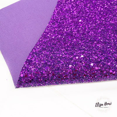 Perfect Purple Lux Premium Chunky Glitter Fabric