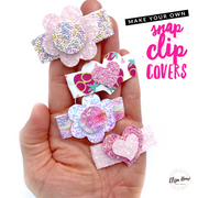 Dinky Hearts & Flower Mix Snap Clip Cover Template Set
