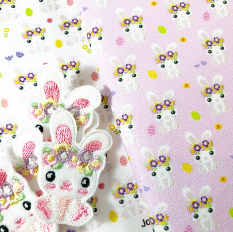 Exclusive EHC Easter Bunnies Matching Felties Fabric Felt