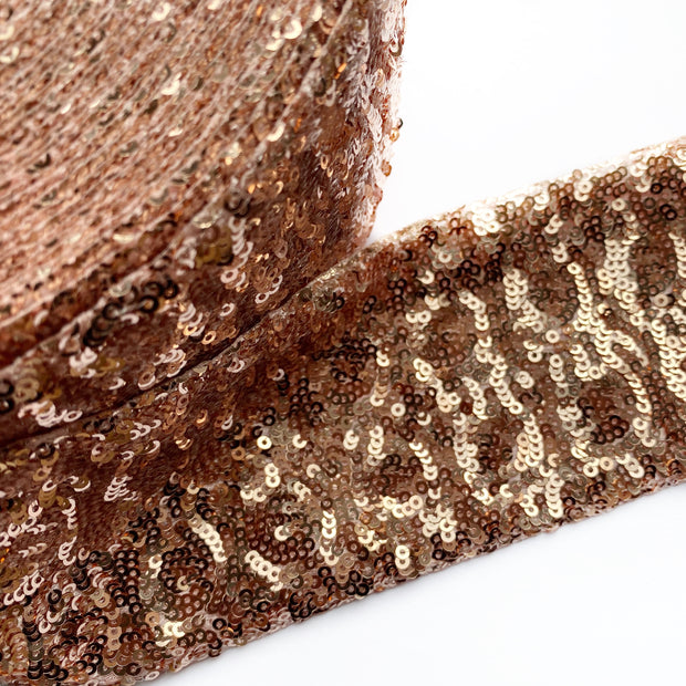 Rose Gold Sequin Ribbon 3''