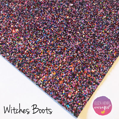 EHC Exclusive Witches Boots Chunky Glitter Fabric