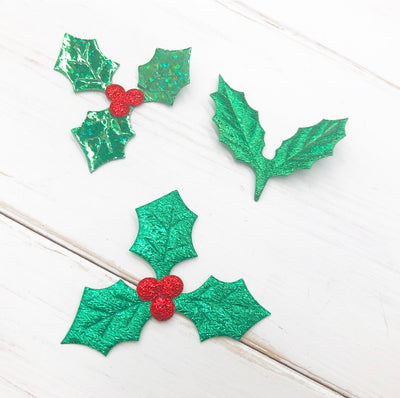 Holly leaf Charm embellishments
