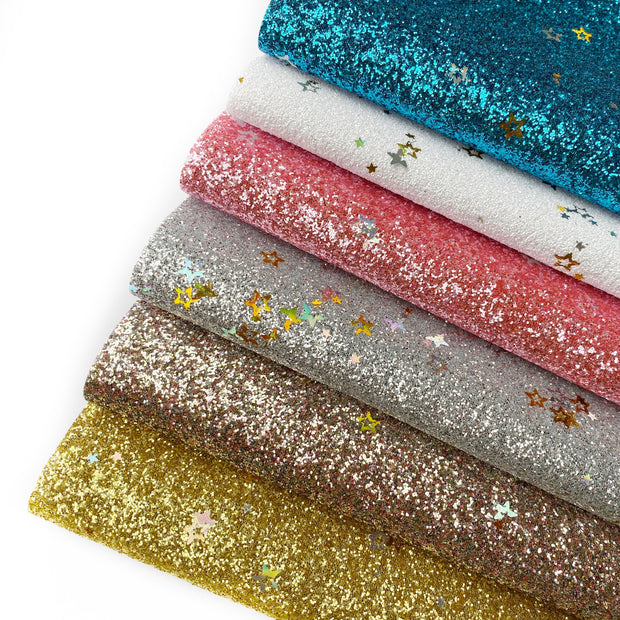 Stars in your eyes Fine Glitter Fabric