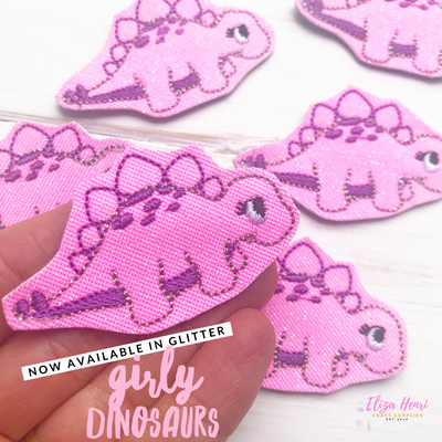 Glittery Girly Dinosaur Felties