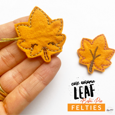 Falling Leaves Bobby Pin Felties- As Featured in our September Bow Box