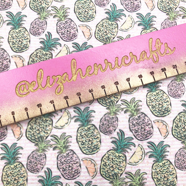 New Pineapple Daze Pink Stripes Standard Fabric Felt