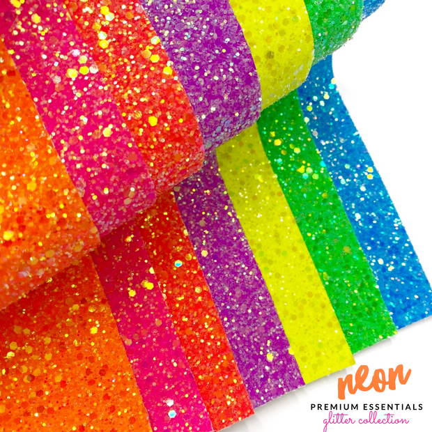 Premium Lux Neon Frosted Glitter collection- 7 Colours