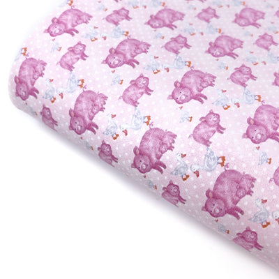 Piggies Smooth Faux Leather Fabric Sheets